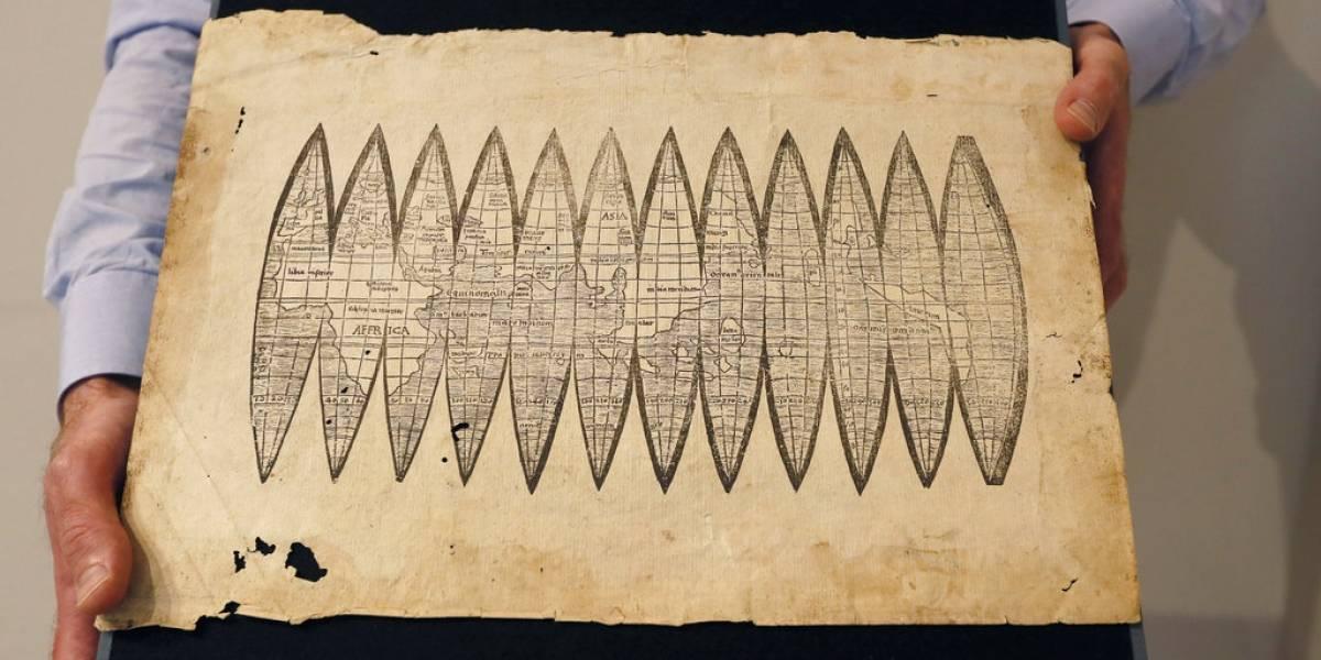 """Hallan mapamundi de 510 años de antigüedad con la palabra """"América"""" y será subastado"""