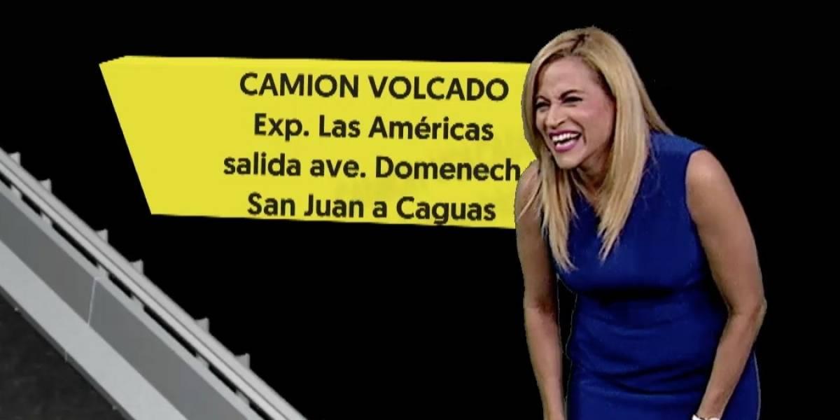 Aixa Vázquez no puede contener la risa en vivo