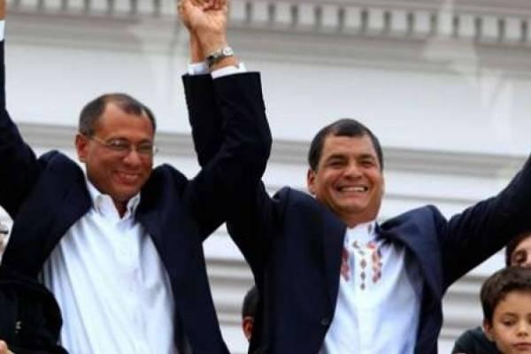 Jorge Glas y Rafael Correa