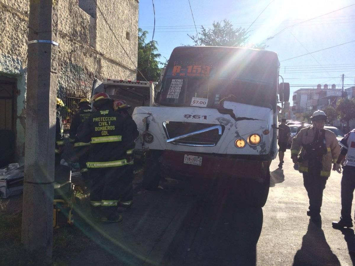 El bebé que viajaba en la ambulancia era trasladado al Centro Médico de Occidente, procedente de la ciudad de Tepic. FOTO: Cortesía