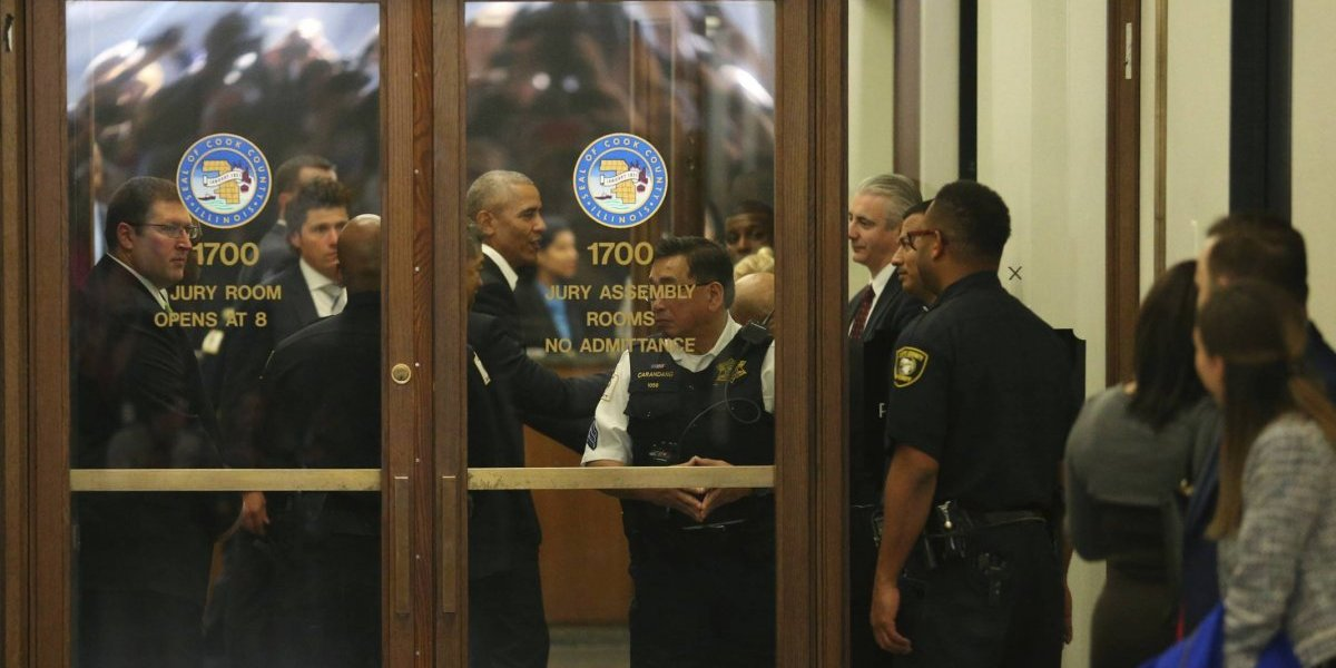 Obama va a corte de Chicago a cumplir con servicio de jurado