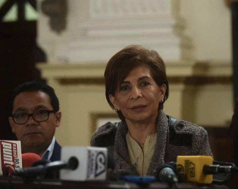 Nineth Montenegro es la jefa de bancada de Encuentro por Guatemala. Foto: Edwin Bercián