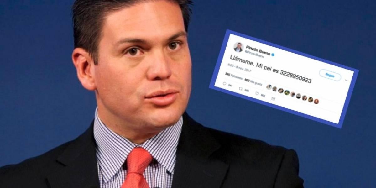 El precandidato a la Presidencia que dejó su número personal en Twitter