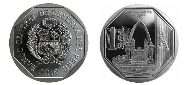 moneda 1 sol Perú Tacna