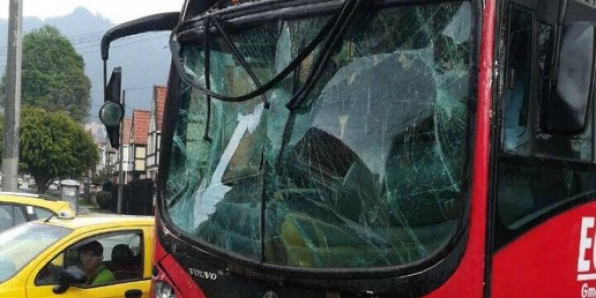 Accidente de TransMilenio en la avenida Caracas deja 30 lesionados