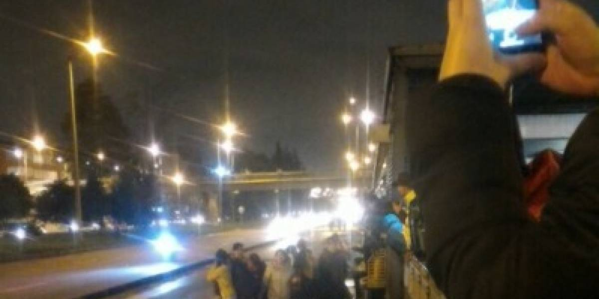 Bloqueos en TransMilenio en la Autopista Norte por falta de buses