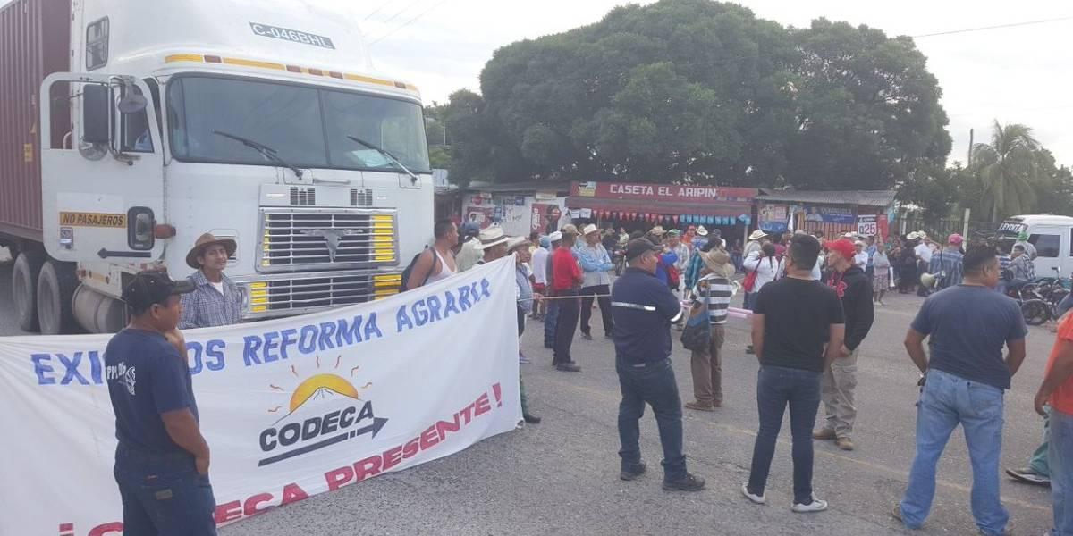 Integrantes de Codeca realizan segunda jornada de bloqueos