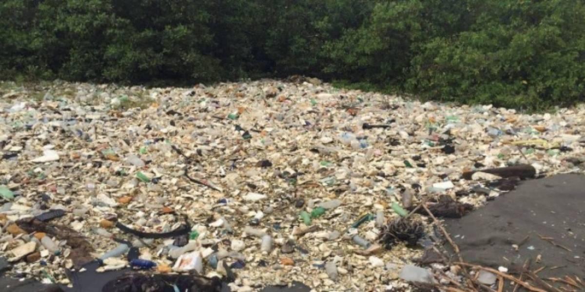 """Medio internacional revela estremecedoras imágenes de """"mar de basura"""" entre Guatemala y Honduras"""