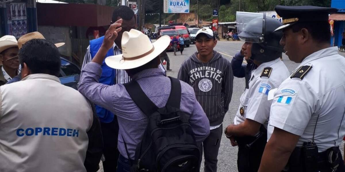 Manifestantes de Codeca empiezan a retirar bloqueos