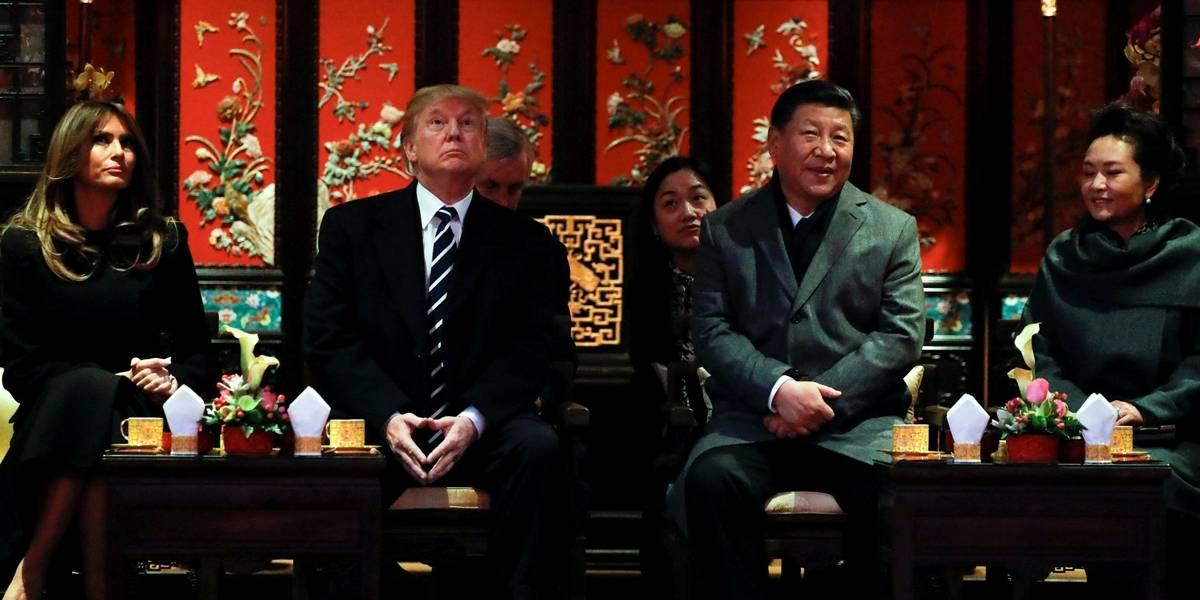 Líder da China recebe Trump em primeiro dia de visita a Pequim