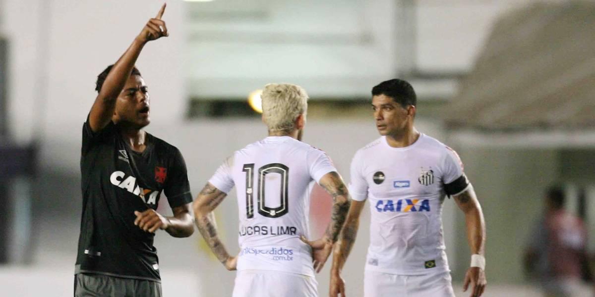 Vasco vira e complica a vida do Santos no Brasileirão