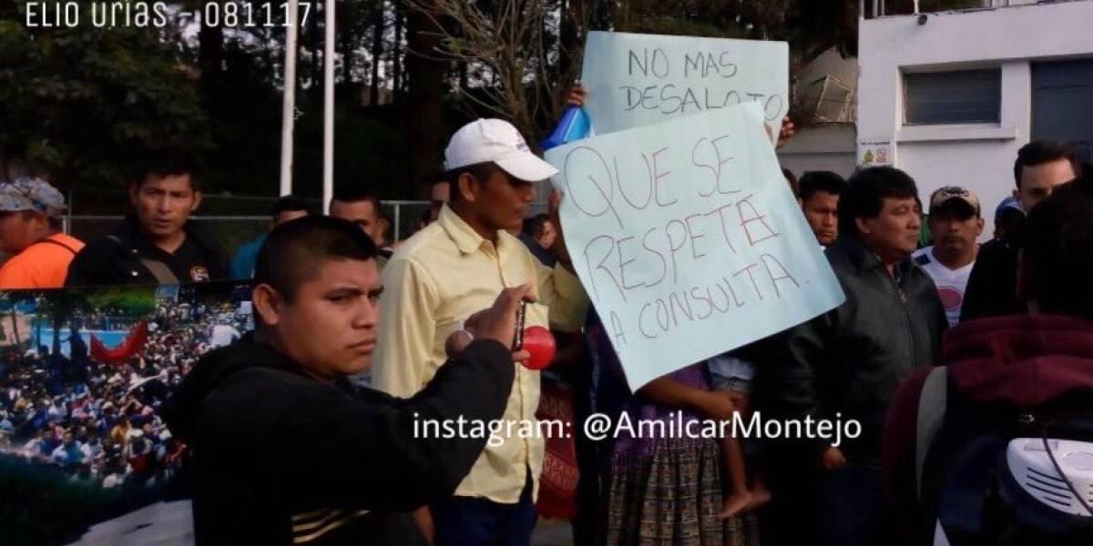 Se inicia recorrido de manifestantes en la Ciudad de Guatemala