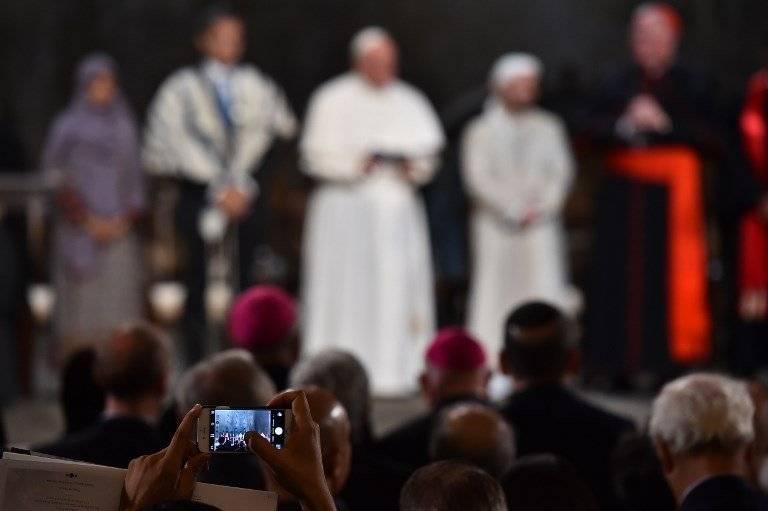 Fotografían al papa Francisco