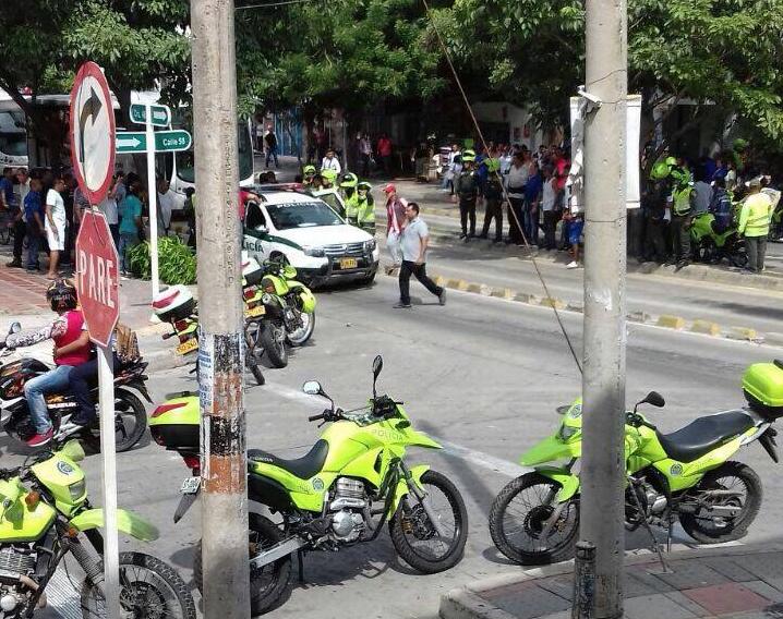 Ladrón fue abatido por la Policía cuando robaba un banco en Barranquilla