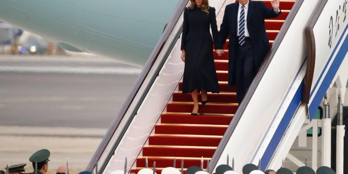 Trump llega a China para su primera visita