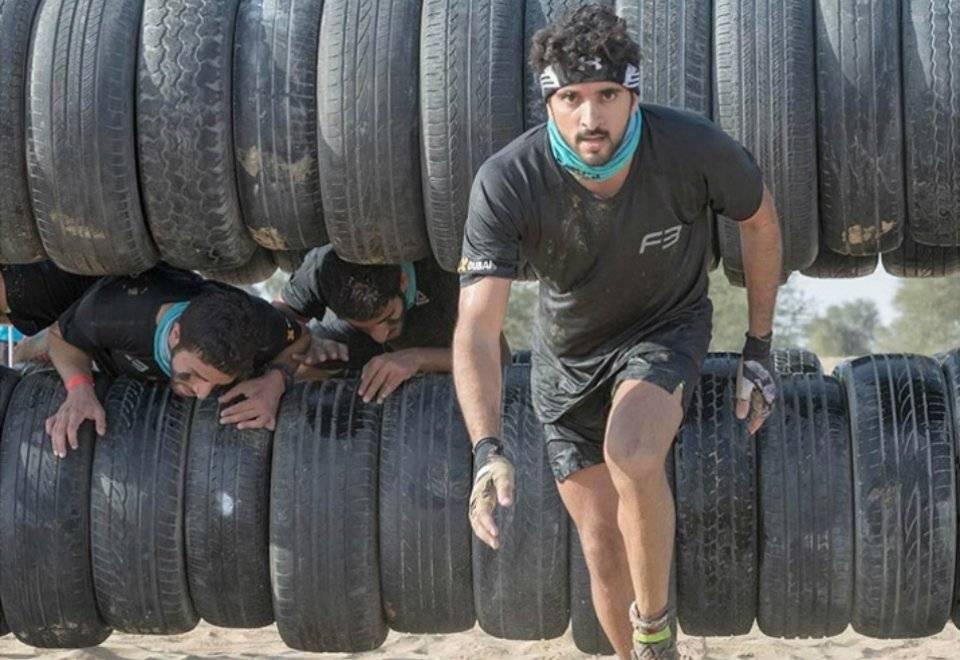 Esportista declarado, ele participou da Sandstorm, uma corrida de obstáculos na areia | Reprodução/Instagram