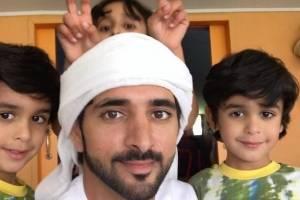 Carinhoso com a família, Fazza esbanja nas selfies ao lado dos sobrinhos