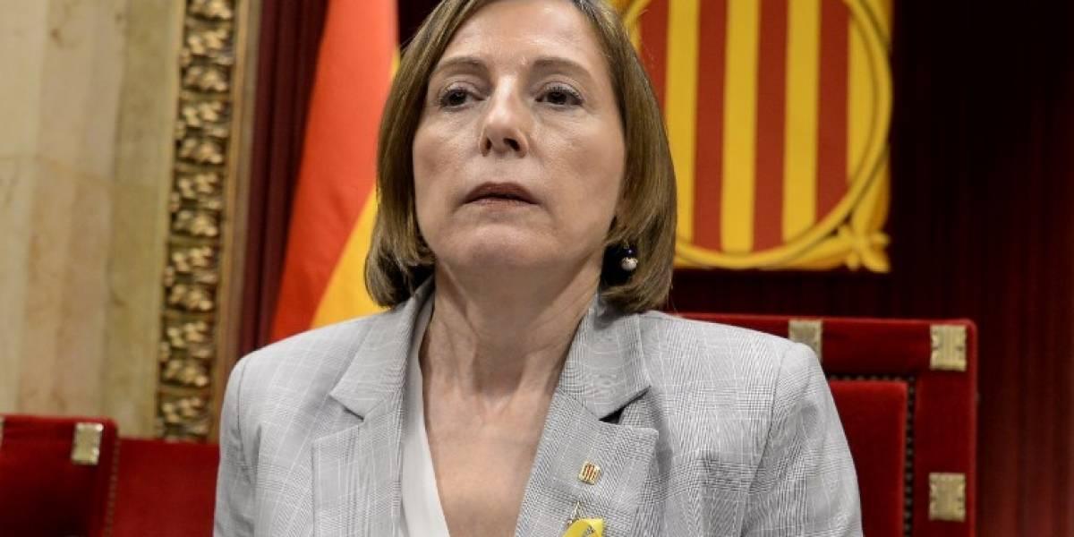 Presidenta del Parlamento catalán declara simbólica la independencia de Cataluña