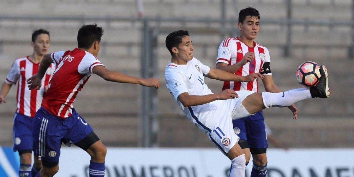 La Roja Sub 15 perdió su invicto en el Sudamericano al caer ante Paraguay