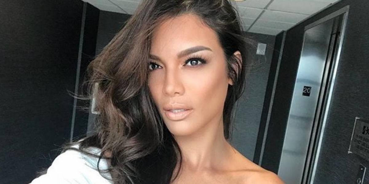 Ex Miss Universo paró el tráfico con una sensual sesión de fotos semidesnuda