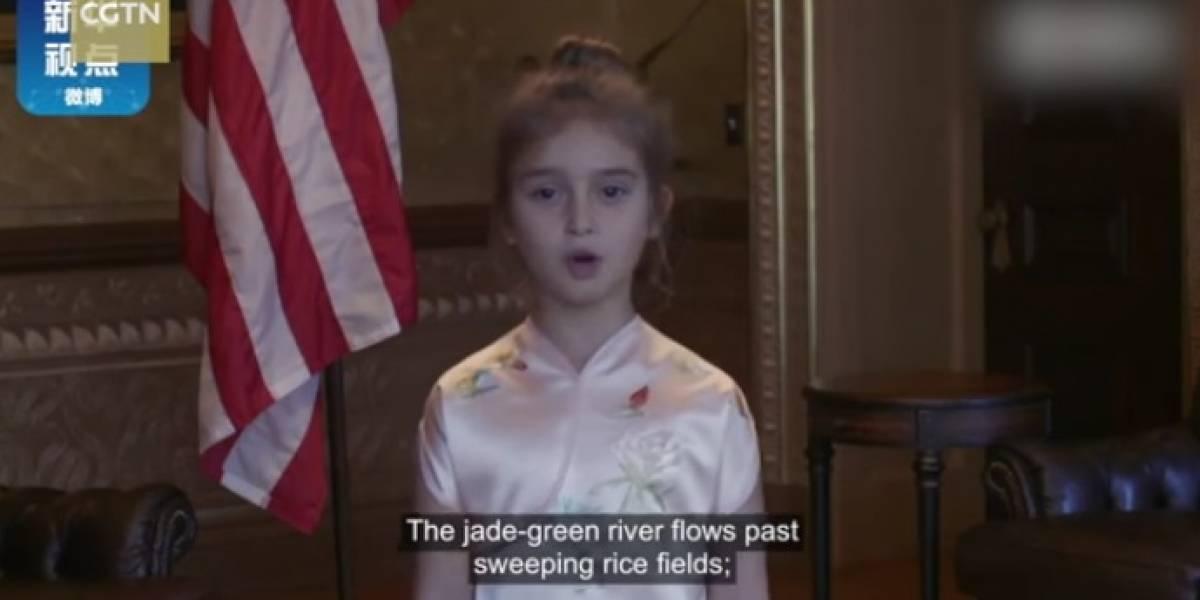 La nieta de Trump se robó el corazón de China con canto y poema en mandarín