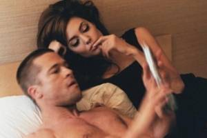 Vanessa Hudgens publicó foto de Brad Pitt y Angelina Jolie juntos