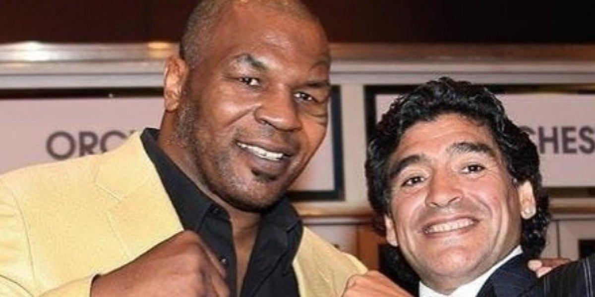 "Maradona se descargó contra Chile por ""caso Tyson"" usando a las Malvinas y a Pinochet"