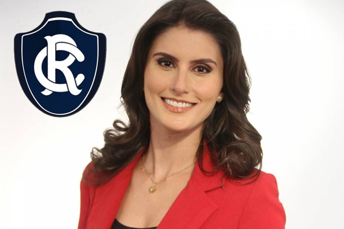 A paraense Caroline Nogueira torce para o Remo Divulgação