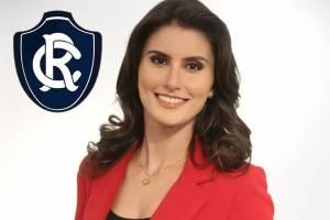 A paraense Caroline Nogueira torce para o Remo