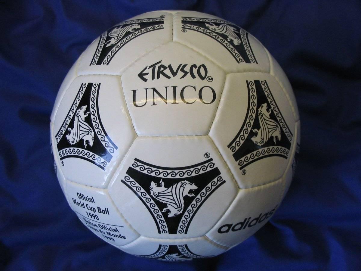 El balón Etrusco Único se ocupó durante el Mundial de 1990 celebrado en Italia/worldcupball.com