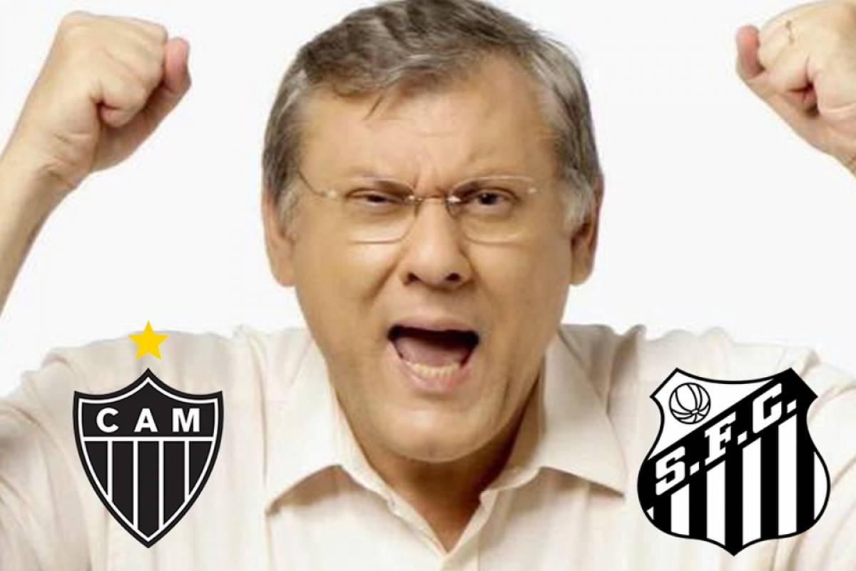 Milton Neves divide o coração alvinegro entre Atlético-MG e Santos Divulgação