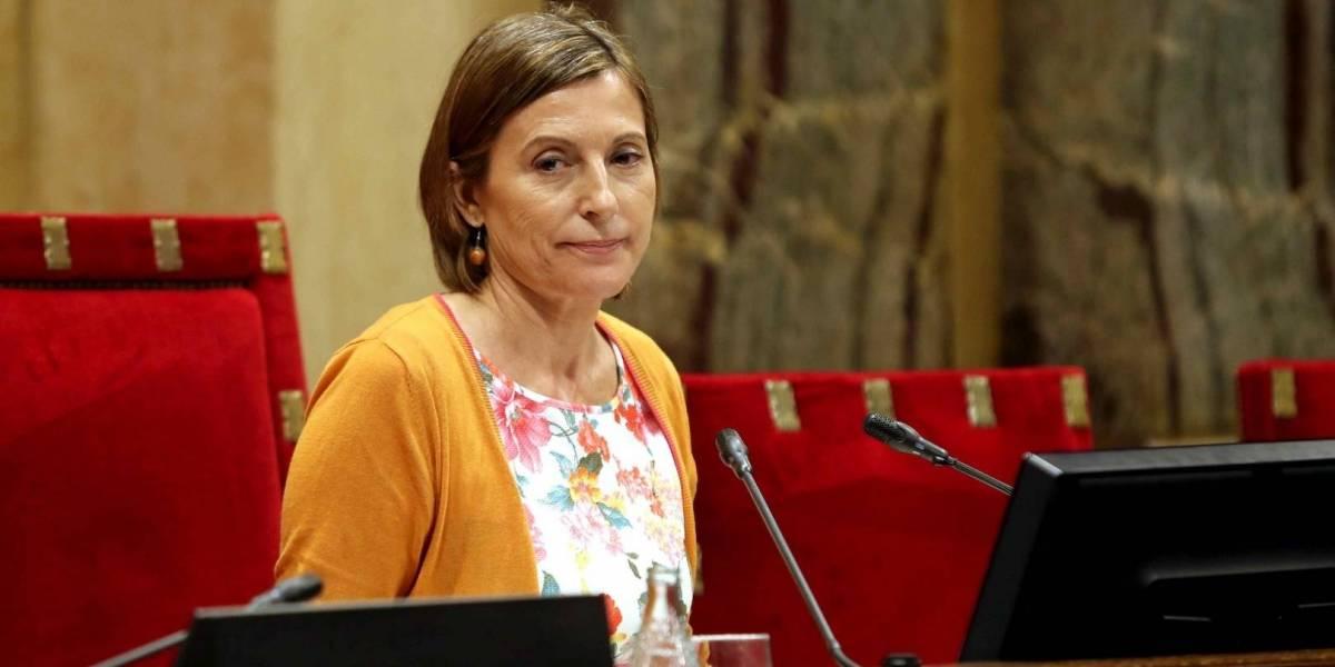 La Fiscalía pide prisión para la presidenta del Parlamento catalán