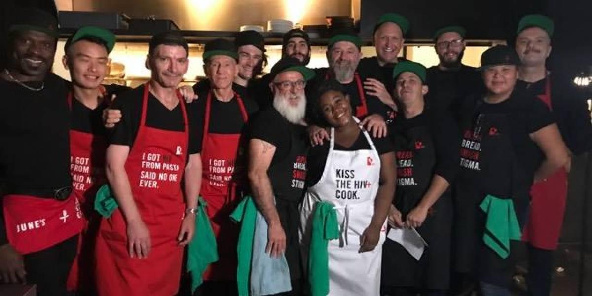 Este restaurante con 14 chefs seropositivos quiere vencer el estigma sobre el VIH