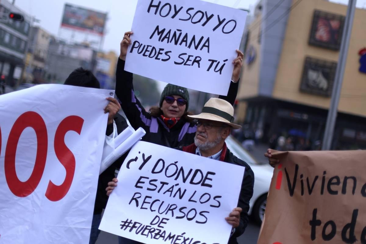 Los manifestantes pidieron solución a las autoridades Foto: Cuartoscuro
