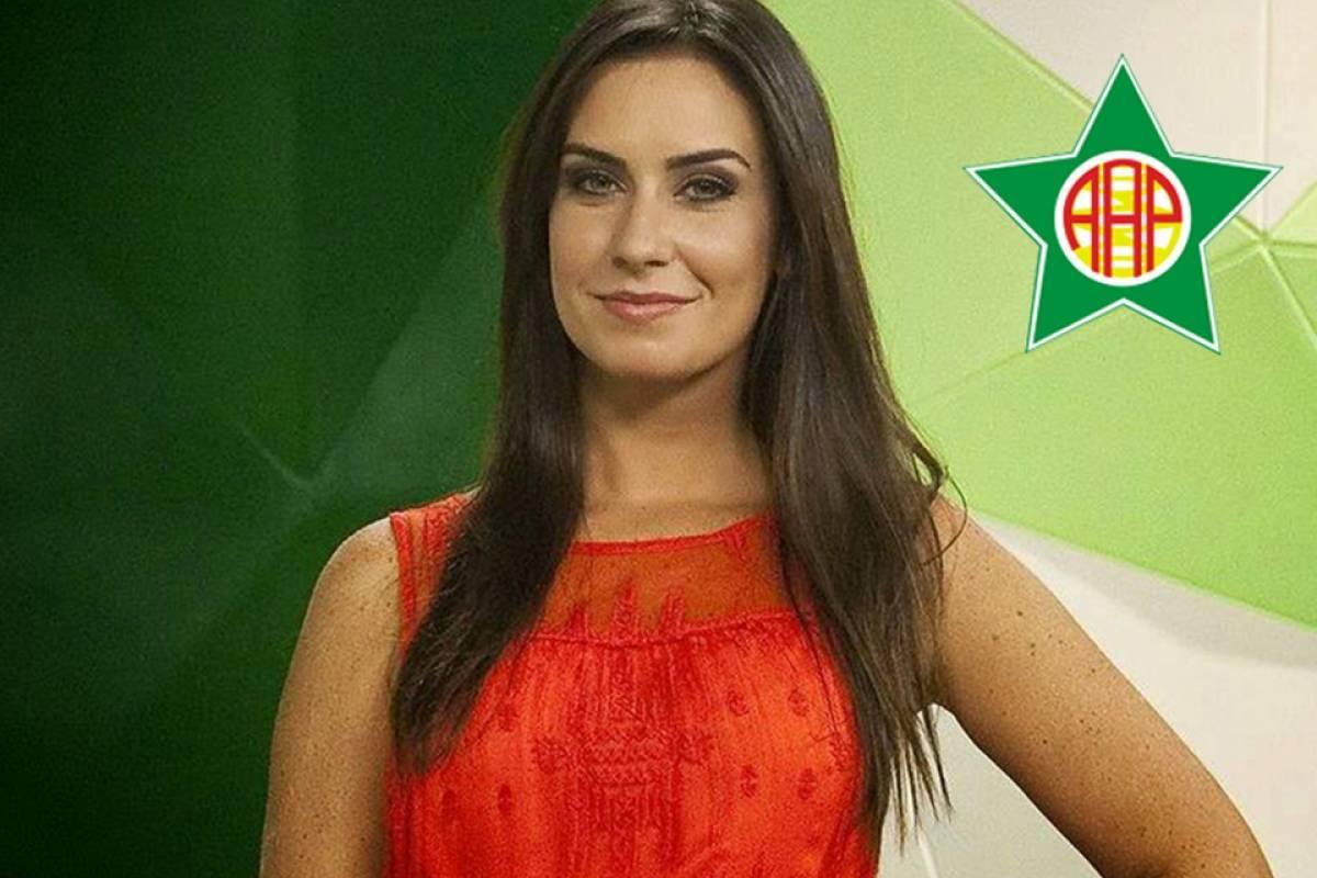 Larissa Erthal torce para a Portuguesa da Ilha do Governador Divulgação