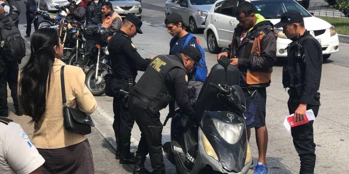 PNC realiza operativos en puntos donde más se han denunciado robos en moto