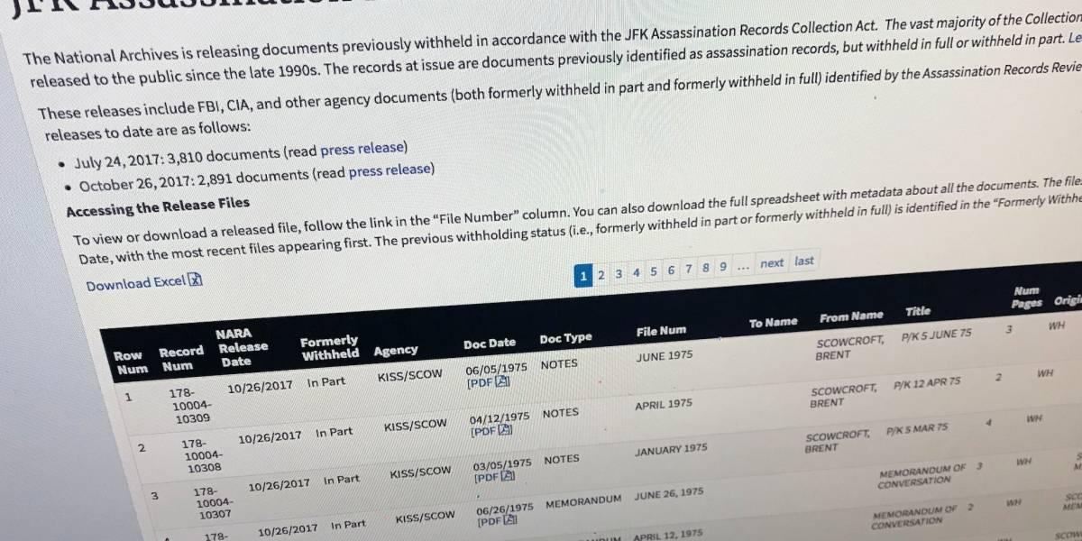 Divulgan 13,200 nuevos documentos relacionados al asesinato de JFK