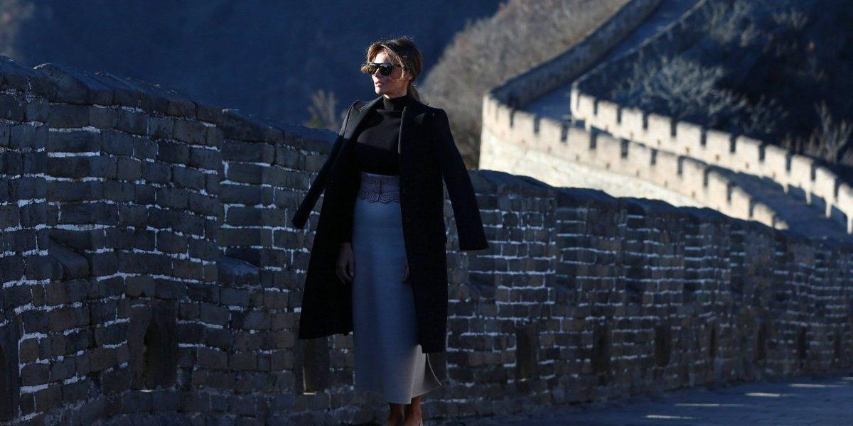 Melania Trump visita la Gran Muralla