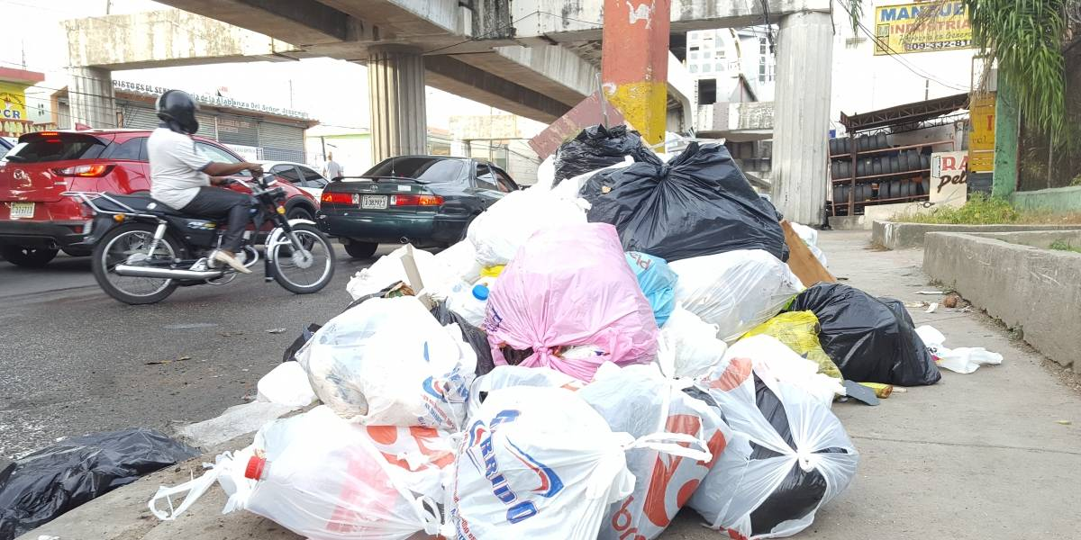 La basura se acumula por montones en barrios de SDN