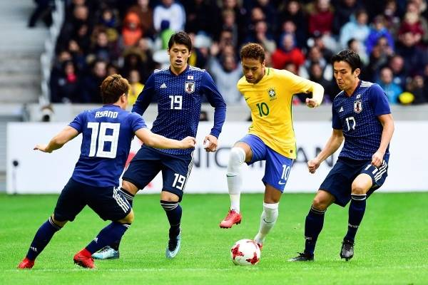 Goles de Brasil 3-1 Japón partido amistoso