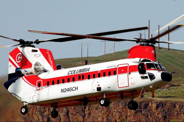 Un helicóptero Boeing de alta capacidad intervendrá para combatir siniestros forestales