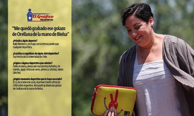 Beatriz Sánchez y su lado deportivo / Foto: Aton Chile - Diseño: Ricardo Delucchi