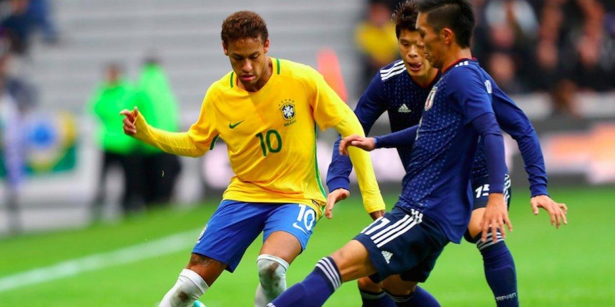 De la mano de Neymar, Brasil se impone ante Japón