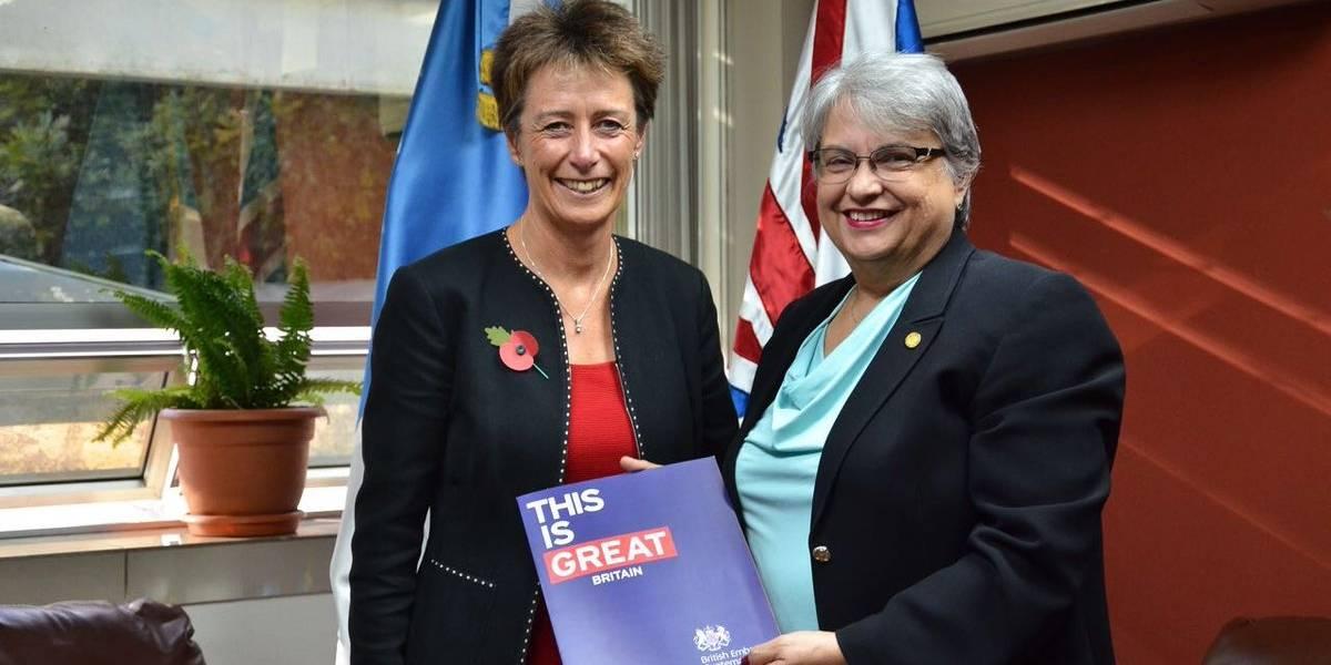 Carolyn Davidson se presenta como la nueva embajadora británica