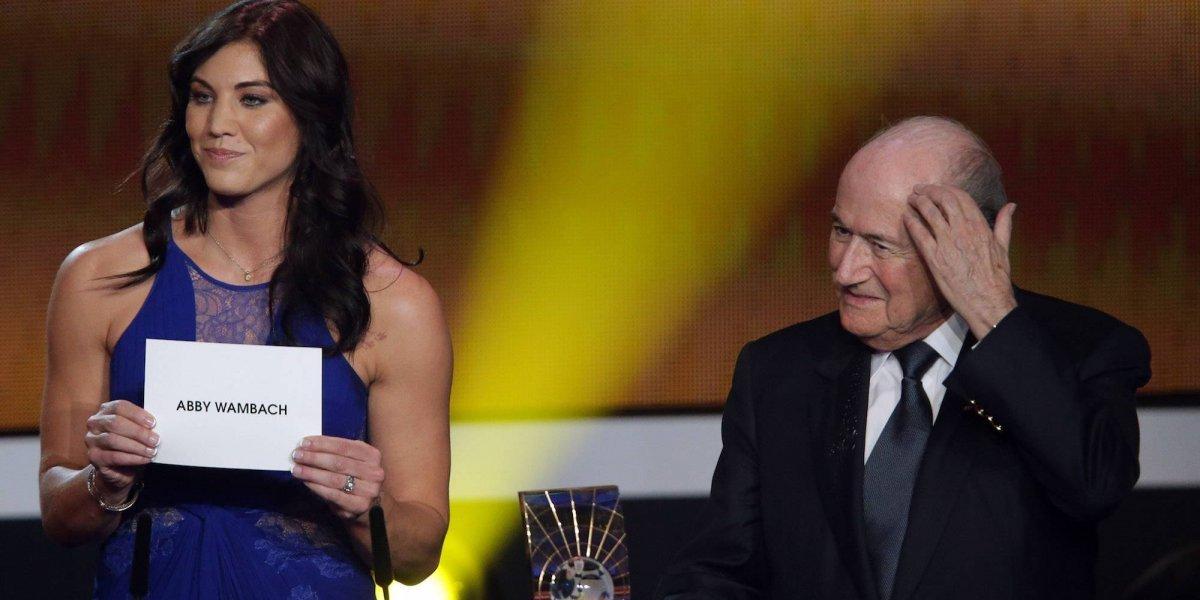 Futbolista Hope Solo denuncia acoso sexual de Joseph Blatter