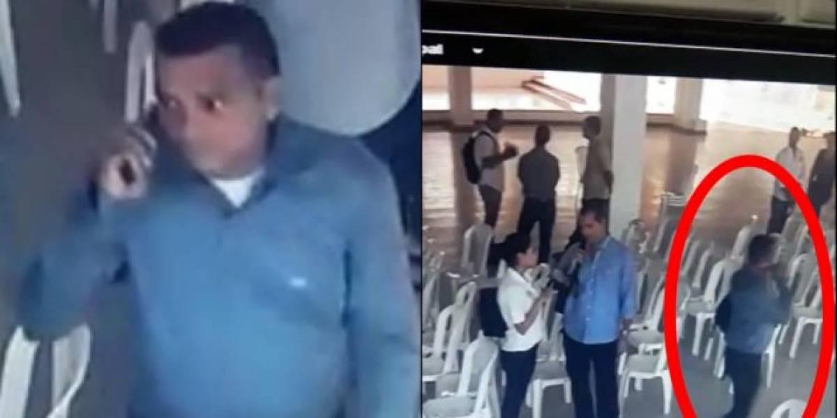 Ladrón 'bien vestido' fue captado en video robando morral en club social