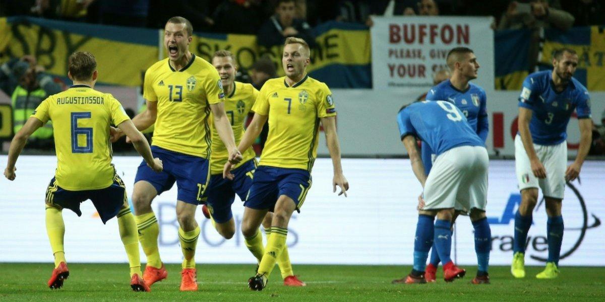 Suecia sorprende a Italia y le mete presión por el boleto al Mundial