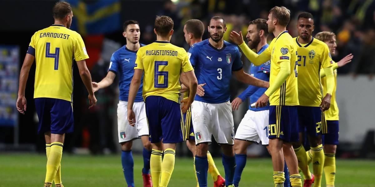 Suecia sorprende a Italia en el primer capítulo del repechaje para Rusia 2018