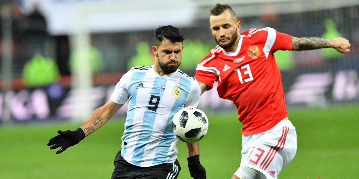 La selección Argentina se sintió como en casa: Derrotó a Rusia con gol de Sergio Agüero
