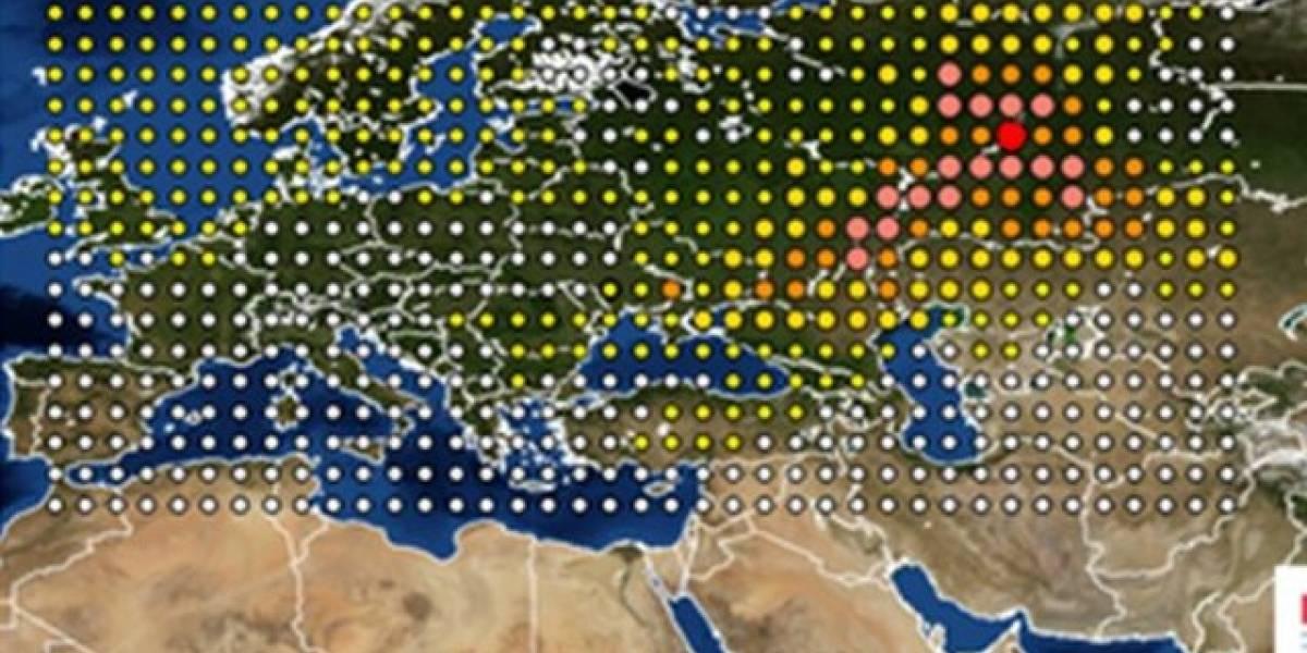 La misteriosa nube radioactiva de origen desconocido que cubrió Europa por más 15 días